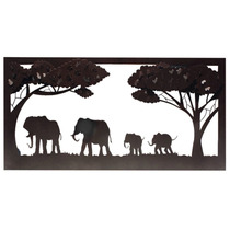 Cuadro Elefantes Decoracion Hierro Y Forja 60 X 120 Cm