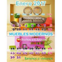 Pared Len Calendario 2017 Taco Exfoliador Varilla Escritorio