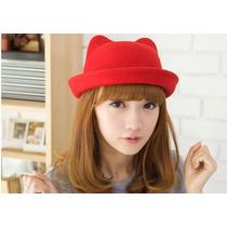 Sombrero Tipo Paja Con Orejas 3d Cosplay Moda Asiatica Color