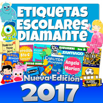 Etiquetas Escolares Kit Imprimible Gold +8 Gigas Hd 2017
