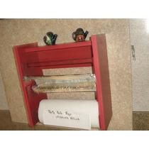 Porta Rollos Cocina 3 Tipos De Papel Y Especiero Lbf