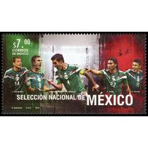 2014 Fifa Selección Nacional De México Futbol Sello Mnh