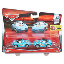 Disney Cars 2 Pack Mia & Tia Dinoco Team 2016 Mattel