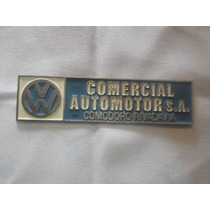 Vw Sedan Vocho Combi Safari Emblema Vw Placa De Metal