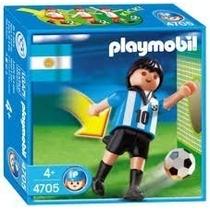 Playmobil 4705 Jugador Argentina Futbol Cancha Retromex