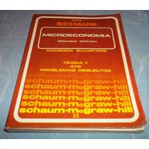 Libro Microeconomia D Dominick Salvatore Serie Schaum