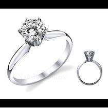 Anillo De Compromiso Con Diamante Natural .50 Ct En Platino