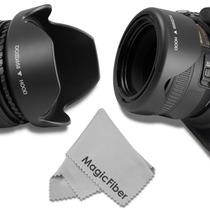 Parasol Tipo Tulipán Reversible 58mm Para Canon Nikon Sigma
