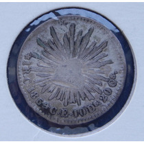 Moneda 1 Real Culiacán 1854 Águila Sonora Escasa