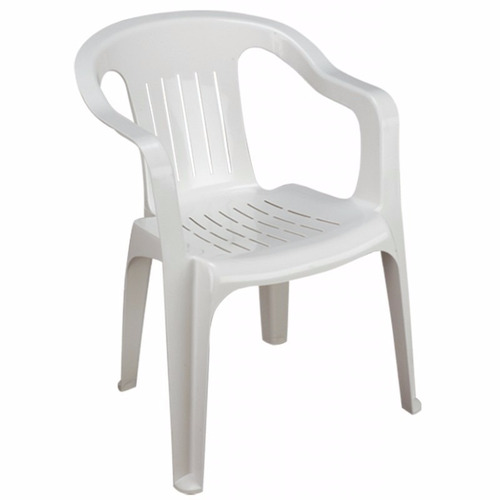 Silla de plastico brexia blanca 170 c42gs precio d m xico - Sillas para jardin de plastico ...