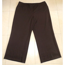 Pantalon Color Cafe Marca Talbots Talla 40/42 Tela Stretch
