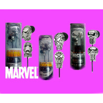 Audifonos Marvel 2x1 Spiderman Ironman Punisher Metalicos