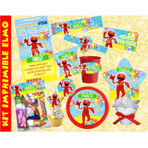 Kit Imprimible Elmo Plaza Sésamo