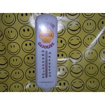 Gasolina Publicidad Lamina Shell Con Termometro