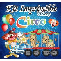 Kit Imprimible Circo Circus Candy Bar Fiesta Personalizada