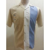 Camisa Hombre Casual Elegante Moda Cubavera Bordada Playa