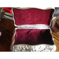Preciosa Caja Alhajero Metal Frances Europeo Art Nouveau Nuv