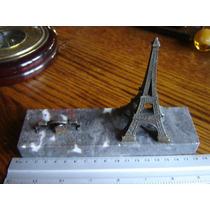Torre Eiffel Paris Francia Pisapapeles Metal Sobre Marmol