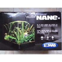 Nano Acuario 14 Litros Mod. 3.6 Con Filtro Y Lámpara Led