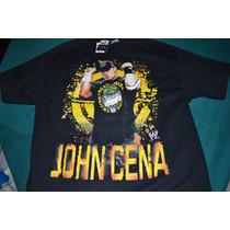 Playera Wwe John Cena - Hustle Loyalty Respect - (talla L)