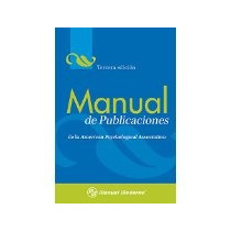 Libro Manual De Publicaciones *cj
