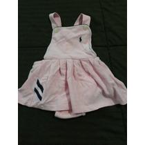Lote 3 Vestidos Ralph Lauren 9-18 Meses Niña.