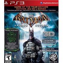 Batman Arkham Asylum Gy Ps3 Videojuego En Caja Sellado