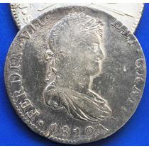 Moneda 8 Reales Mexico 1812 Jj Fernando V I I Plata Escasa