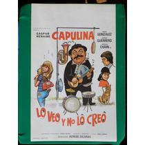 Capulina Lo Veo Y No Lo Creo Original Cartel De Cine Poster