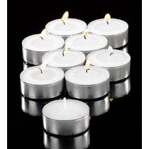 Velas Cera Tea Light 100 Pzas Blancas Flotantes Sin Aroma
