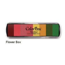 Scrapbook Arbol Huella Paint Box Cojin Tinta Sello 8 Colores