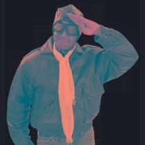 Aviator Traje Piloto - Casco Bufanda Gafas Vestido De Lujo