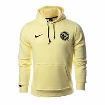Sudadera Hoodie Club América Color Crema 2015-2016 Nike
