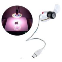 Ventilador De Aspas Usb Para Laptop Y Pc Flexible Con Luz
