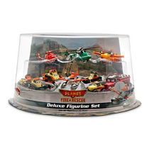 Cars Disney Planes Fire Rescue. Set Deluxe Figurines. Pvc.