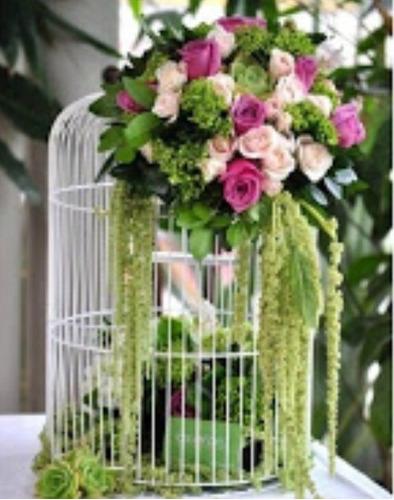 Jaula decorativa centro de mesa bodas xv a os fiestas 145 - Precios de centros de mesa para boda ...