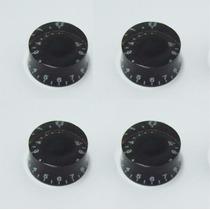 Juego De 4 Botones Para Les Paul Color Negro