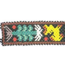 Pulsera De Chaquira Huichol Figura De Venado Y Maíz