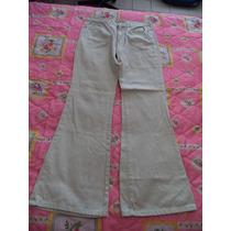 Pantalon De Mezclilla Strech Beige Jeans Lei Talla 9 Dama