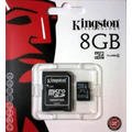 Memoria Micro Sd 8 Gb Kingston Para Camarasy Celulares Vv4