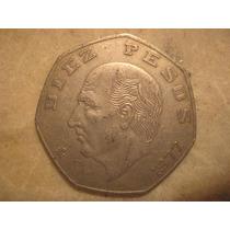 8 Monedas De $10.00 Pesos 1976-1985 Eptagonal Miguel Hidalgo