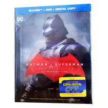 Batman Vs Superman El Origen De La Justicia Book Blu-ray Dvd