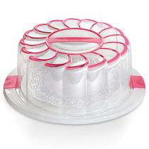 Porta Pastel Plato Decorado Rosa Recipiente Cocina Prinz