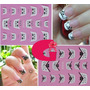 Sticker Uñas Frances 3d Set 4sobre Xf801,xf859,xf803,xf861