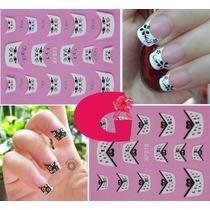 Sticker Uñas Frances 3d Set 4sobre Xf801,xf859,xf803,xf861