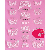 Sticker Uñas Frances 3d Set 4sobre Xf867,xf830,xf871,xf832
