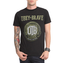 Hot Topic Playera Obey The Brave Young Blood T-shirt