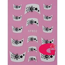 Sticker Uñas Frances 3d Set 4sobre Xf832,xf838,xf841,xf872