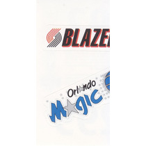1997 Ud Choice Italian Sticker Blazers Magic Logo Teams