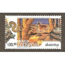 Mexico Conserva Desiertos $30.00 Tortuga Serpiente Fauna Vbf